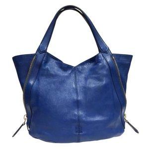 Givenchy Blue Lambskin Leather Tinhan Hobo Bag